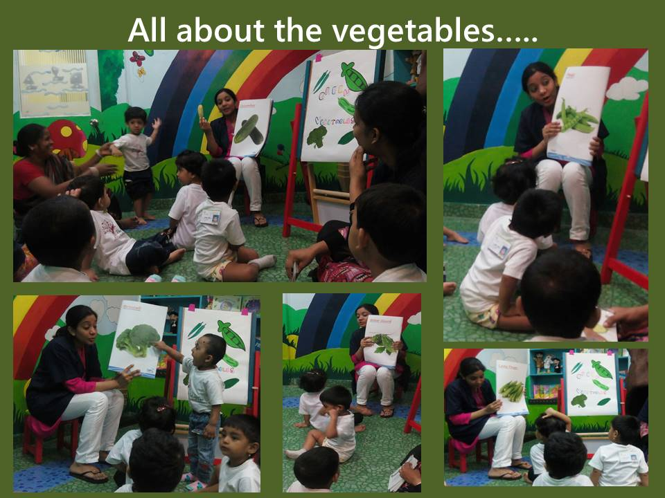 Learning about green vegetables